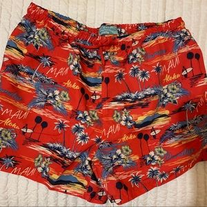 Men's Medium Tropical Swimming Trunks